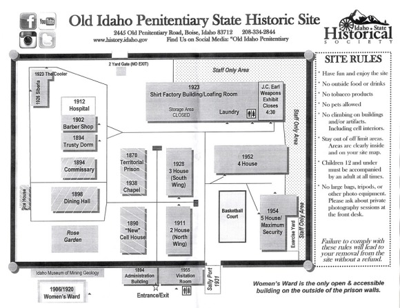 Old Idaho Penitentiary | Idaho State Historical Society | prison | Boise | Idaho | wheelchair accessible | site map | Images by RJM
