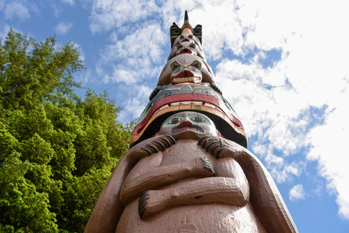 Saxman Village Totem Park, Ketchikan, Alaska, totem poles, First City, Tlingit, Images by RJM