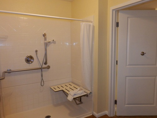 Worldmark by Wyndham, San Diego; wheelchair accessible roll-in shower