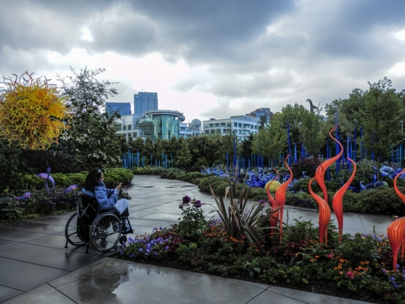 Chihuly Gardens and Glass Museum, Seattle, Washington, sculptures, Alaska, Alaskan Cruise, Celebrity Solstice, MS Foundation, wheelchair accessible, excursions, nature, adventure, education, wildlife, culture, highlights, Anything Is Possible Travel, Images by RJM