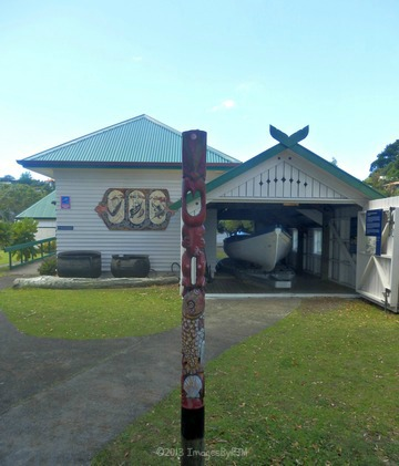 Boat house, Russell, New Zealand