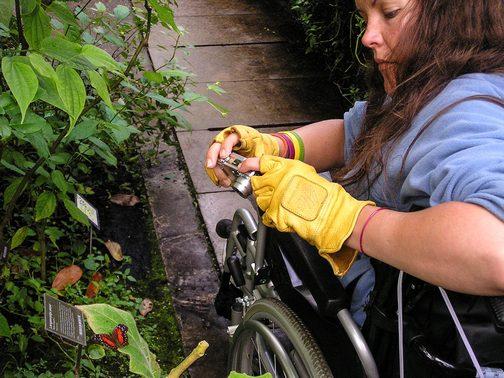BPO Elks | Deer hide | Gloves | Fingerless Gloves | Wheelchair Accessory | Accessible Travel | Veterans | Amsterdam | Hortus Botanicus