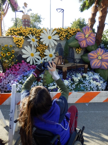 Inspiring Stories, Rose Parade, wheelchair accessible, Showcase of Floats