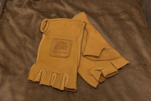 BPO Elks | Deer hide | Gloves | Fingerless Gloves | Wheelchair Accessory | Accessible Travel | Veterans