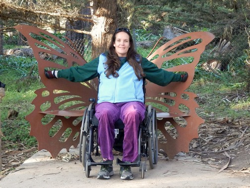 Wheelchair accessible, monarch butterfly sanctuary, ©2015 ImagesByRJM