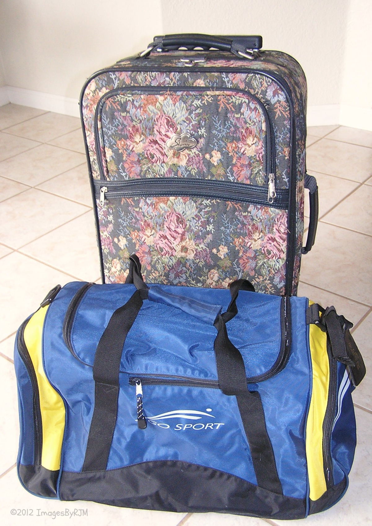 Carry-on luggage: Nylon bag, soft-sided suitcase