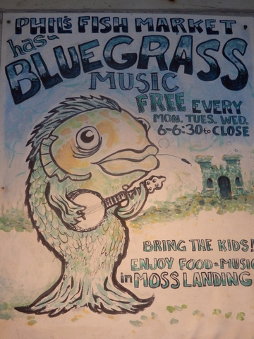 Moss Landing, Monterey County, California, Northern California, Phil's Fish Market and Eatery, bluegrass, music, wheelchair accessible