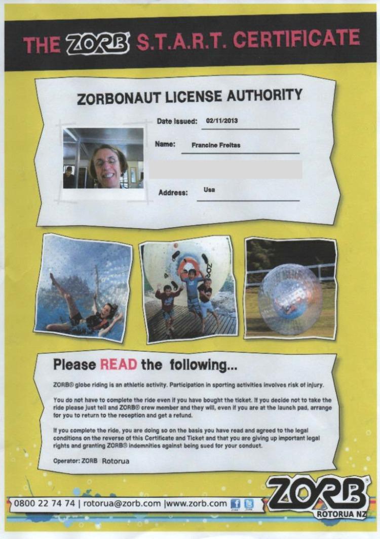 Certified Zorbonaut!