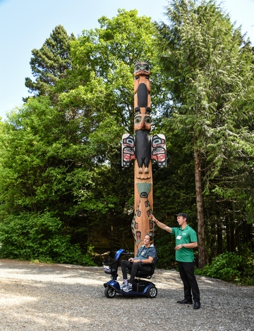Saxman Village Totem Park, Ketchikan, Alaska, totem poles, First City, wheelchair accessible, Images by RJM