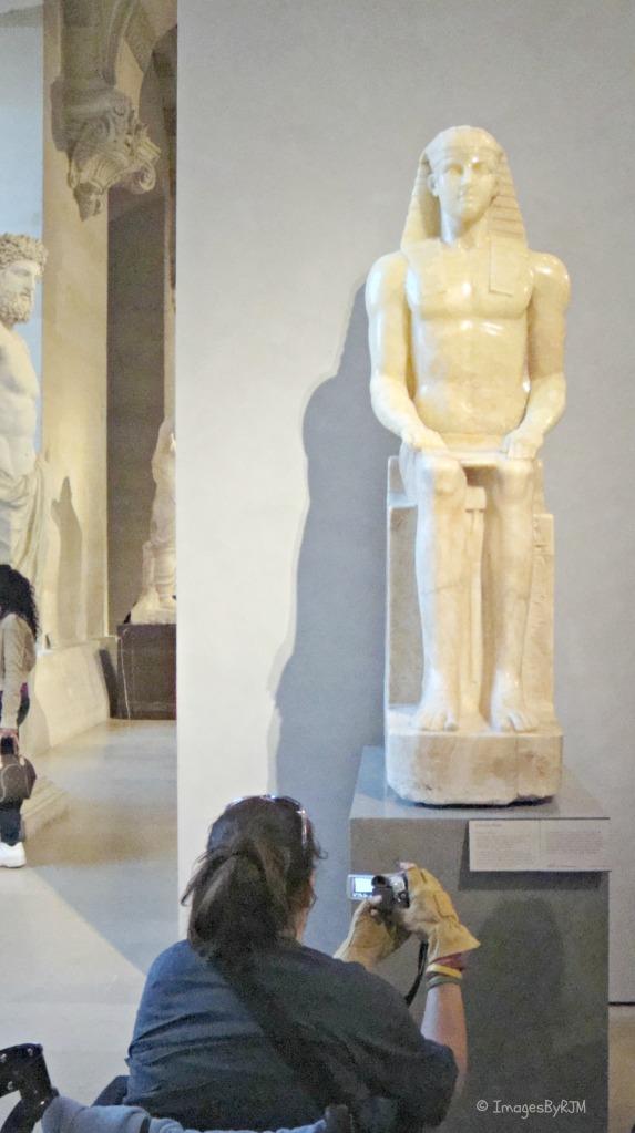 Louvre, Paris, France, art, sculptures, accessible, Egyptian, Roman