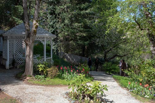 Crystal Hermitage | Ananda Village | Nevada City | Northern California | gardens | tulips | wheelchair accessible | gazebo
