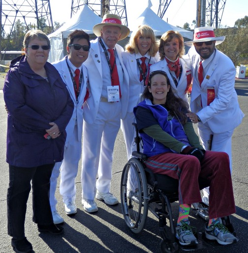 Inspiring Stories, Rose Parade, wheelchair accessible, white suiters