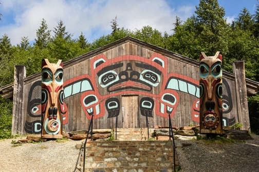 Saxman Village Totem Park, Ketchikan, Alaska, Beaver Clan House, totem poles, First City, wheelchair accessible, Images by RJM