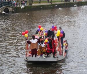 Boat parade; Sinterklaas; Amsterdam, NL