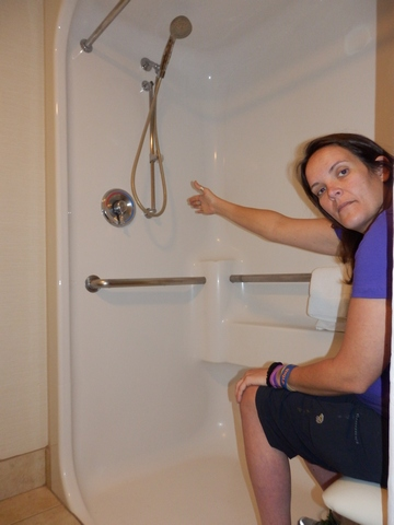 Days Inn at Pima; roll-in shower; wheelchair accessible
