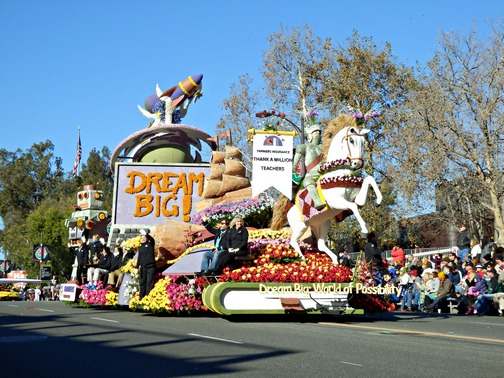 Inspiring Stories, Rose Parade, wheelchair accessible, Dream Big, floats