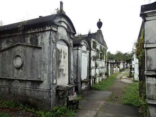 Lafayette Cemetery, New Orleans, Garden District, aboveground, burial, stone crypts mausoleums, tombs, family, historic, preservation, wheelchair accessibility, uneven walkways, grassy walkway, City of the Dead, ©2015 ImagesByRJM