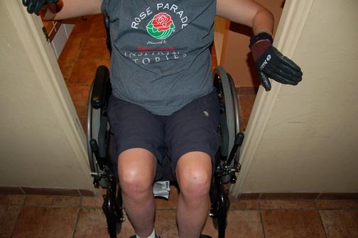 La Posada Lodge & Casitas; wheelchair accessibility; narrow doorway