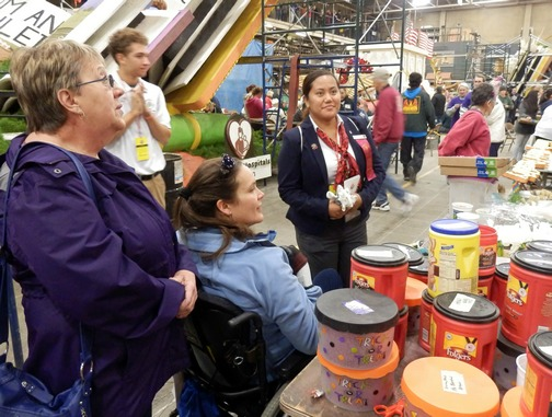 Inspiring Stories, Rose Parade, wheelchair accessible, decorating floats