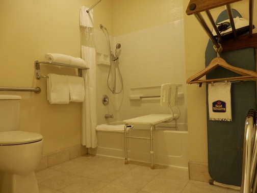 Best Western Marina Dunes, accessible shower chair