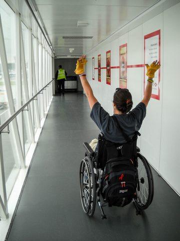 BPO Elks | Deer hide | Gloves | Fingerless Gloves | Wheelchair Accessory | Accessible Travel | Veterans | Heathrow Airport | England