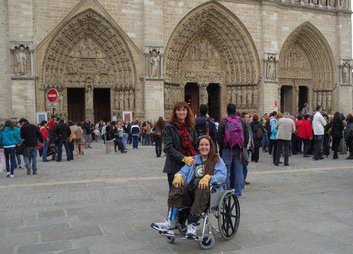 BPO Elks | Deer hide | Gloves | Fingerless Gloves | Wheelchair Accessory | Accessible Travel | Veterans | Paris | Notre Dame de Paris