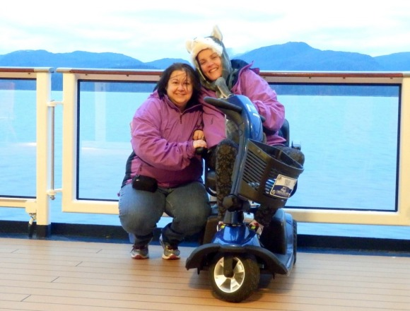Accessible, wheelchair accessible, Alaska, Alaskan Cruise, Celebrity Solstice, Travel, Multiple Sclerosis, accessible scooter, Images by RJM