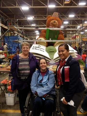 Inspiring Stories, Rose Parade, wheelchair accessible, float decorating