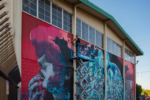 Street Art | Sacramento | Wide Open Walls | Artists | Mural Festival | Visit Sacramento | Franceska Gamez | Shaun Burner