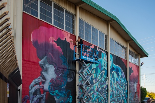 Street Art | Sacramento | Wide Open Walls | Artists | Mural Festival | Visit Sacramento | Franceska Gamez | Shaun Burner