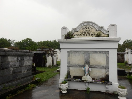 Lafayette Cemetery, New Orleans, Garden District, aboveground, burial, stone crypts mausoleums, tombs, historic, preservation, Society for the Relief of Destitute Orphan Boys, benevolent society, City of the Dead, ©2015 ImagesByRJM