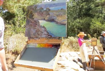Artist at Point Lobos