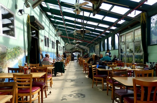 Moss Landing, Monterey County, California, Northern California, Phil's Fish Market and Eatery, covered patio dining, wheelchair accessible, Images by RJM