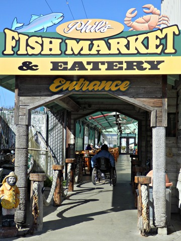 Moss Landing, Monterey County, California, Northern California, Phil's Fish Market, wheelchair accessible, Images by RJM