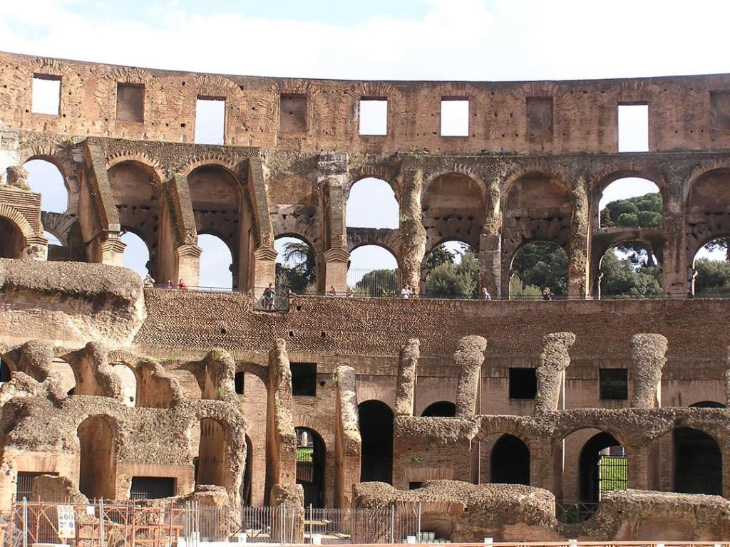 Image of interior walls of the Roman Colosseum.